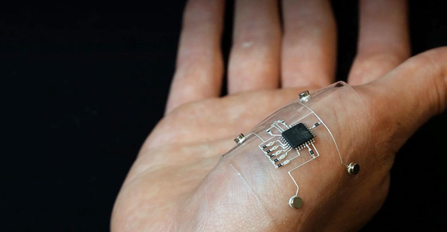 Design Hmi Flexible Hybrid Electronics Product Tags Printed Circuit Board In The Lab Researchers Used A 3d Printer To Create Conductive Traces Of Silver Infused Thermoplastic Polyurethane Pick And Place Method